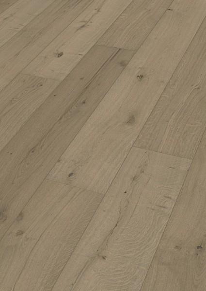 LINDURA Holzboden 8744 Eiche authentic greige in B Ware Landhausdiele meister- lich 32cm breite
