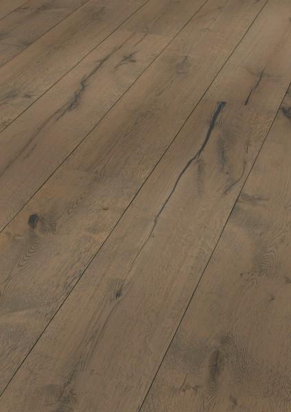 LINDURA Holzboden 8411 Eiche rustikal lehmgrau in B Ware Landhausdiele meister-lich 32cm breit