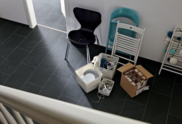 Meister Design Laminat LB 150 Schiefer anthrazit 6137 Fliesenformart, Wasserresistent