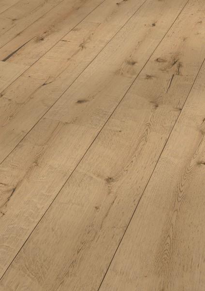 LINDURA Holzboden 8414 Eiche rustikal milchkaffee in B Ware Landhausdiele meister- lich 27cm breit