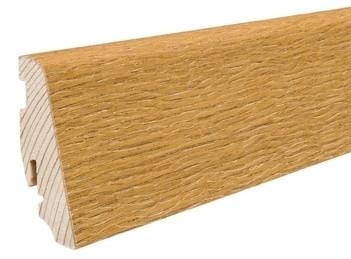 Haro Sockelleisten 16x58mm Eiche strukturiert für Parkettböden Echtholzfurniert Massivholzkern