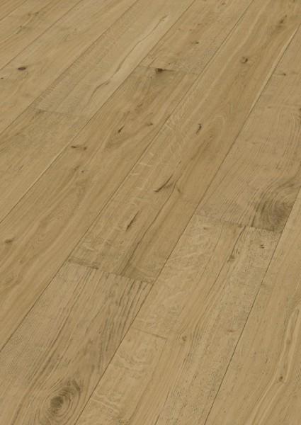 LINDURA Holzboden 8520 Eiche rustikal in B Ware Landhausdiele meister- lich 27cm breite