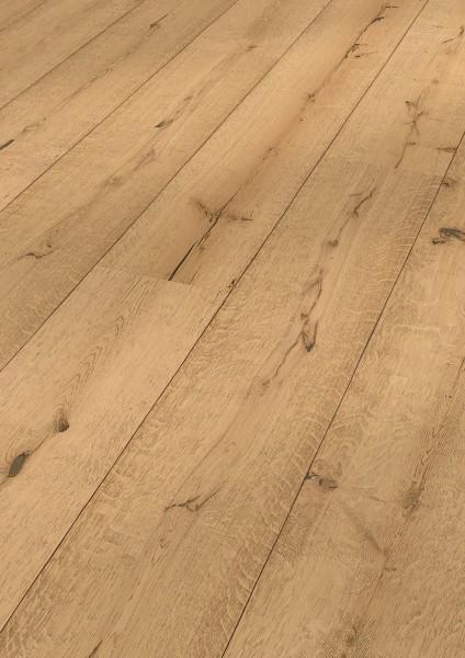 LINDURA Holzboden 8413 Eiche rustikal Pure in B Ware Landhausdiele meister- lich 27cm breit