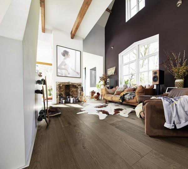 Meister LINDURA Holzboden 8511 Eiche rustikal olivgrau Landhausdiele 27cm Breite