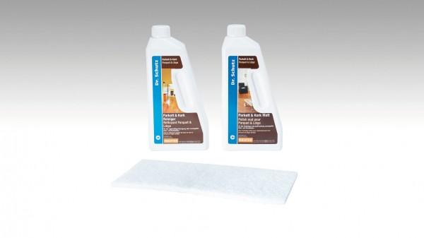 Dr. Schutz- Pflegeset für lackierte Parkett-, Lindura- und Korkböden