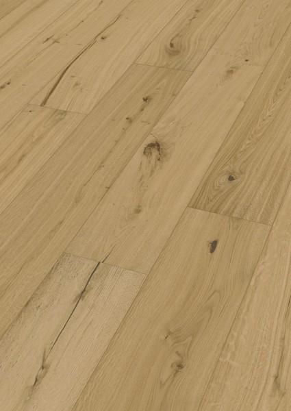 LINDURA Holzboden 8739 Eiche authentic in B Ware Landhausdiele meister- lich 27cm breite