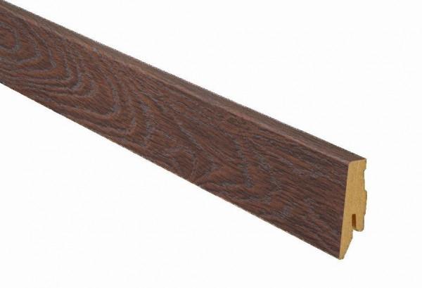Sockelleiste A16 Eiche kubabraun Dureco Profil SLK 60 von Terhürne