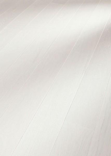 Parkett Eiche harmonisch polarweiß 8081 Landhausdiele Meister- lich mattlack B Ware aus PD 400
