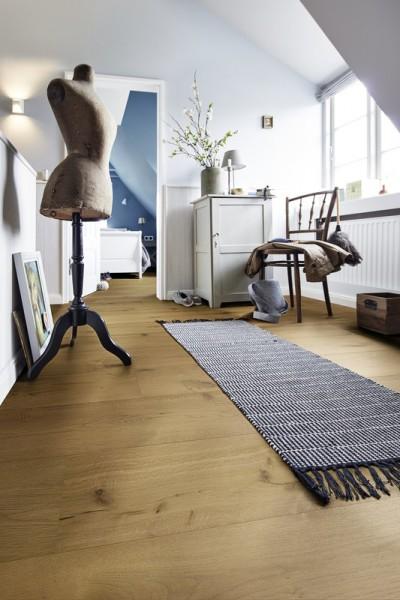Meister LINDURA Holzboden 8514 Eiche rustikal goldbraun Landhausdiele 27cm Breite