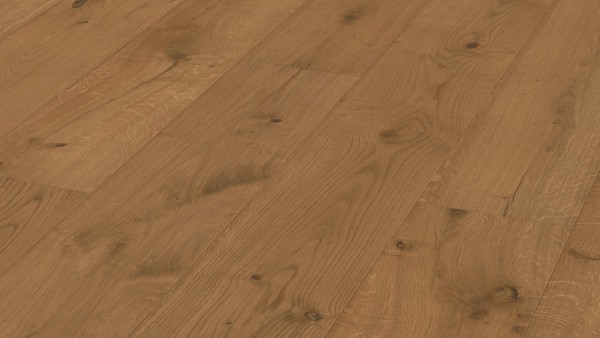 LINDURA Holzboden 8514 Eiche rustikal goldbraun Landhausdiele HD 300 von Meister 27cm breite