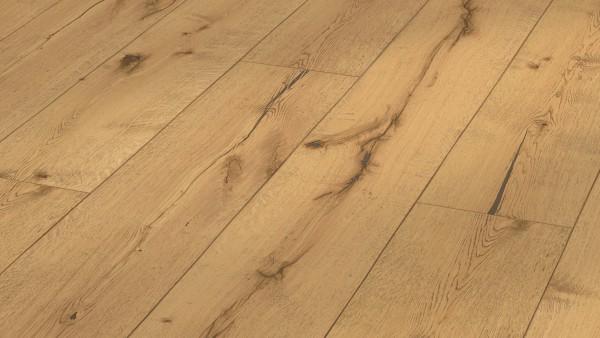 LINDURA Holzboden 8410 Eiche rustikal in B Ware Landhausdiele meister- lich 32cm breite