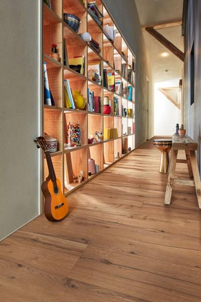 Meister Design Laminat LL 150 Eiche rustikal cognac 6256 Landhausdiele, Wasserresistent