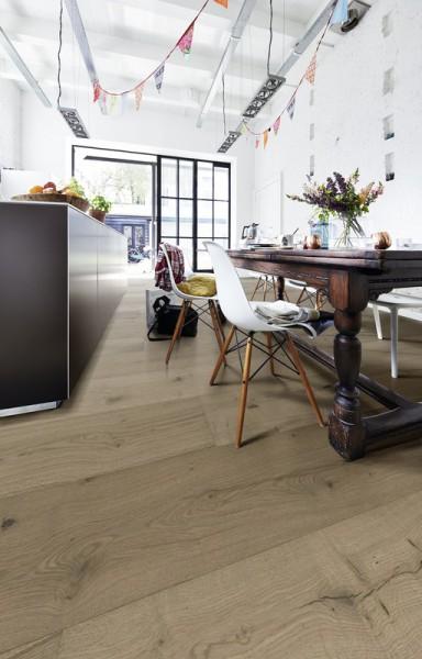 Meister LINDURA Holzboden 8744 Eiche authentic greige Landhausdiele 32cm Breite