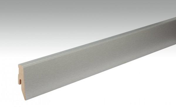 Sockelleisten Profil 3 PK von MEISTER in Edelstahloptik 20x60mm