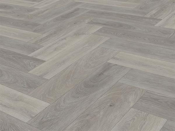 Check one Premium Vinylboden *2075 Fläming Eiche* Herringbone mit integrierter Trittschalldämmung