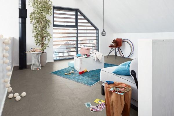 Meister Design Laminat Schiefer grau 6136, LB 150, Fliesenformart, Wasserresistent