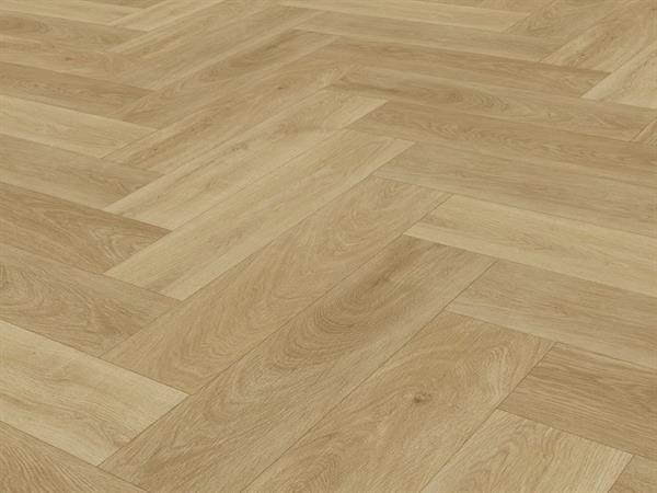 Check one Premium Vinylboden *2074 Prenzlau Eiche* Herringbone mit integrierter Trittschalldämmung