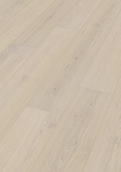 LINDURA Holzboden 8741 Eiche lebhaft cremeweiß in B Ware Landhausdiele meister- lich 27cm breit