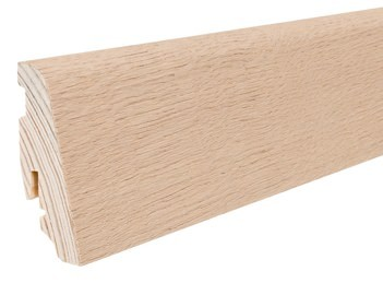 Haro Sockelleisten 16x58mm Eiche Puroweiß strukturiert für Parkett Echtholzfurniert Massivholzkern