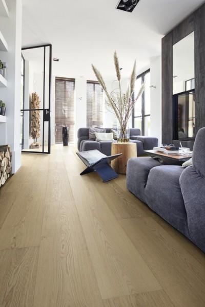 Meister LINDURA Holzboden 8734 Eiche natur Alabaster Landhausdiele 27cm Breite