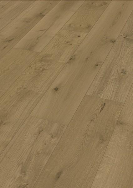 LINDURA Holzboden 8747 Eiche lebhaft cappuccino in B Ware Landhausdiele meister- lich 27cm breit