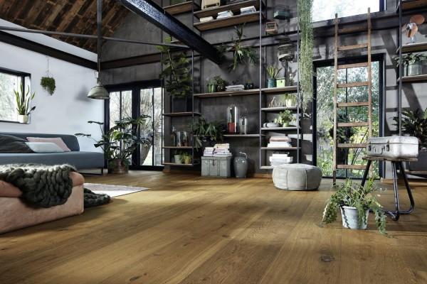 Meister LINDURA Holzboden 8748 Eiche authentic Dry Wood Landhausdiele 32cm Breite