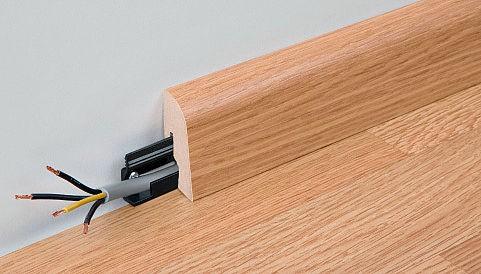 Sockelleisten Profil 2 PK von MEISTER in allen passenden Oberflächen Eiche Echtholzfurniert