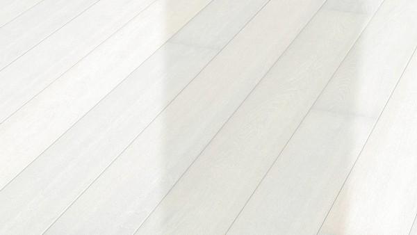 Parkett Eiche harmonisch polarweiß 8560 Landhausdiele Meister- lich hochglanzlackiert in B Ware Klic