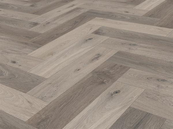 Check one Premium Vinylboden *2073 Lausitz Eiche* Herringbone mit integrierter Trittschalldämmung